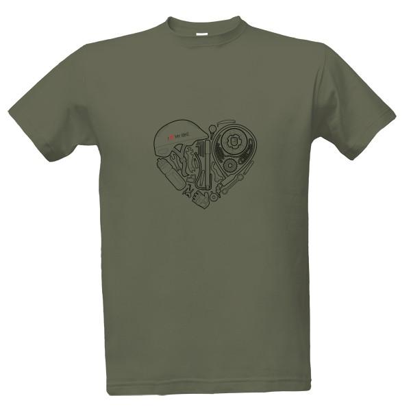 Tričko s potiskem I Love My Bike - Srdce
